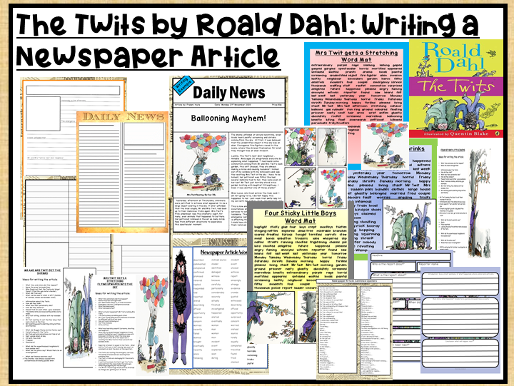 The Twits by Road Dahl-Writing a Newspaper Article