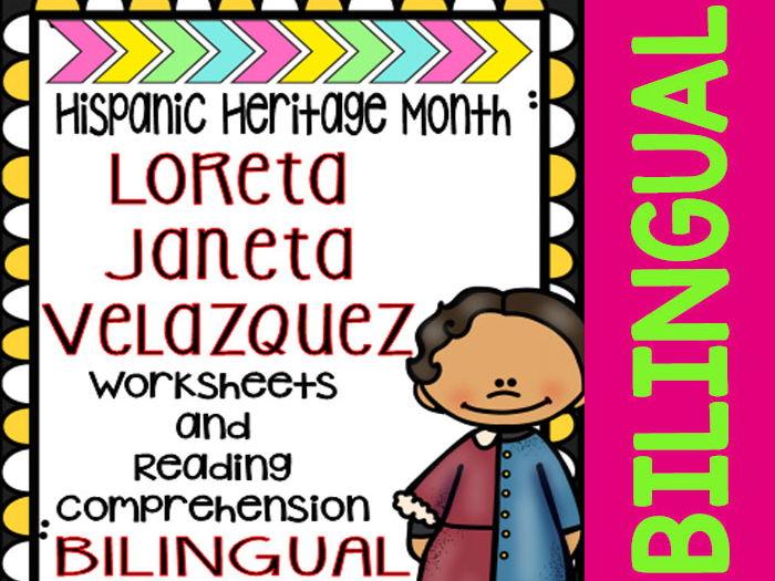 Hispanic Heritage Month - Loreta Janeta Velazquez - Worksheets and Readings-Dual