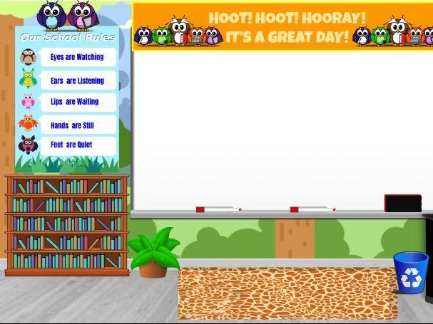 Owl themed Virtual Classroom Background