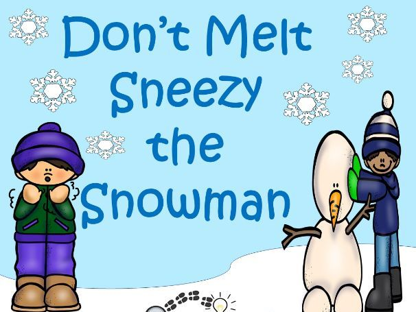 Sneezy the Snowman Letter S Speech and Language Game Board