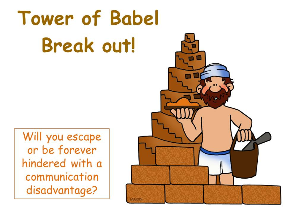 Tower of Bable escape room activity