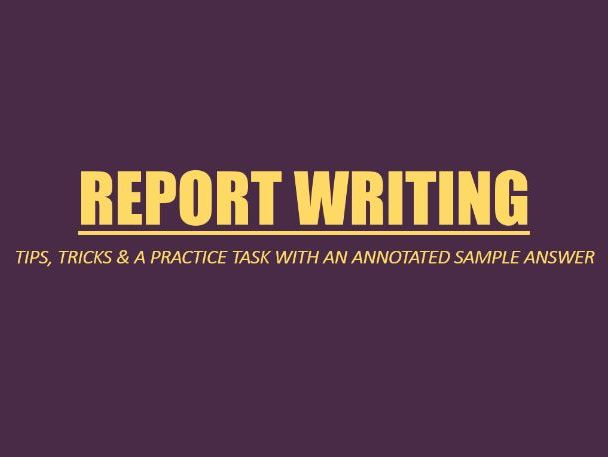 IGCSE Report Writing Guide with Sample Answer