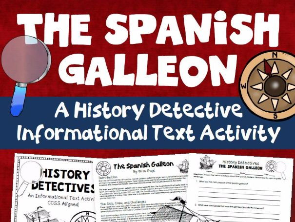 Spanish Galleon Reading and Writing Activity