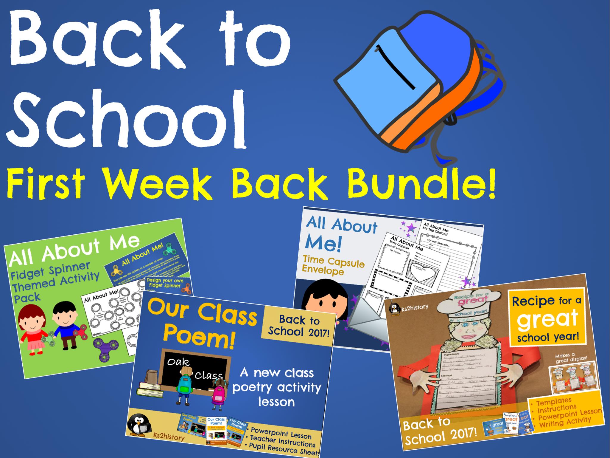 First Weeks Back Bundle (Back to School)