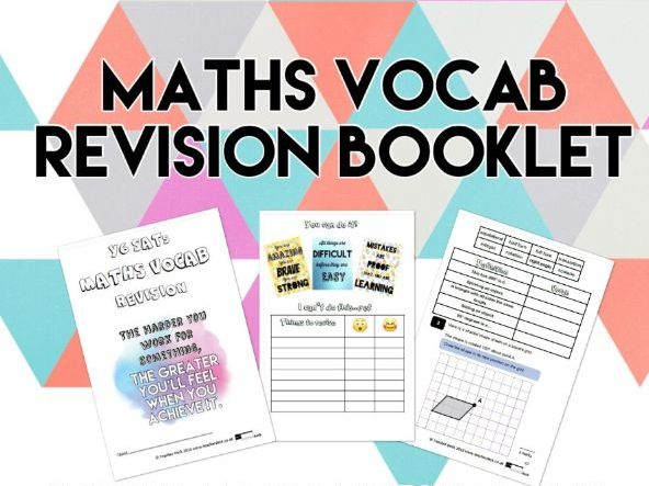 KS2 Maths Vocab Revision Booklet