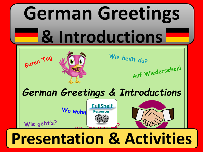 German Greetings and Introductions Presentation