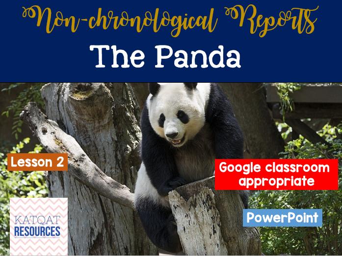 Panda - Non-chronological reports