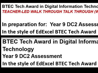BTEC TA Digital Information Tech C3 Exam