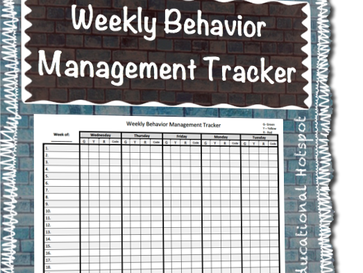 Weekly Behavior Management Tracker