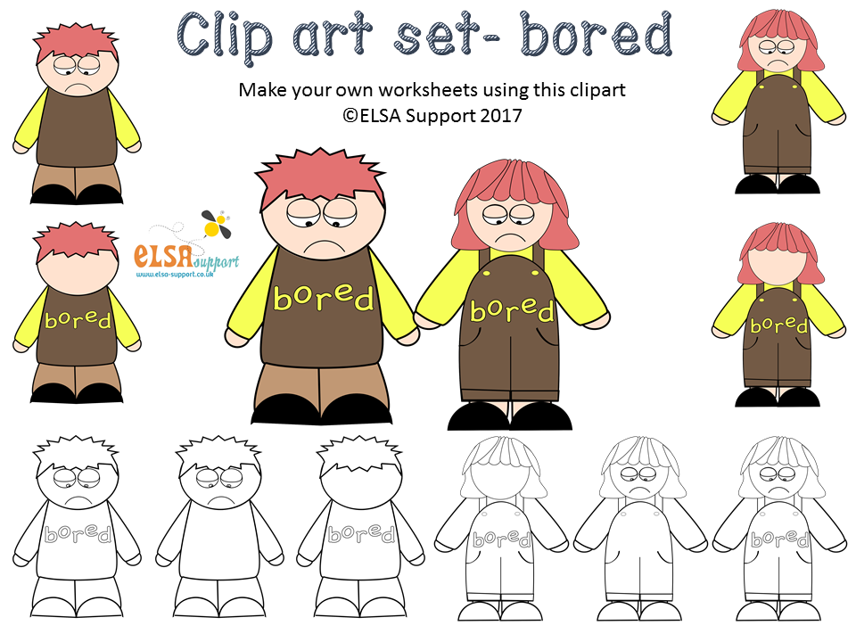Emotions Clip art - Bored
