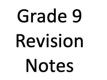 Grade 9 Notes for AQA GCSE Chemistry - Unit 4 - Chemical Changes
