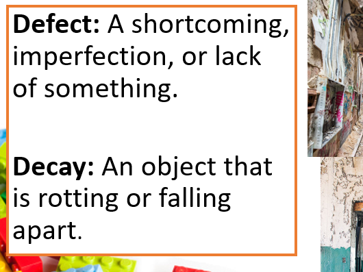 Defects & Decay in Structures. (Built Environment/ Construction/ Engineering)