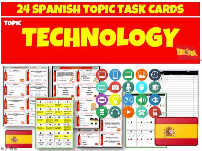 Technology - Spanish MFL Task Cards