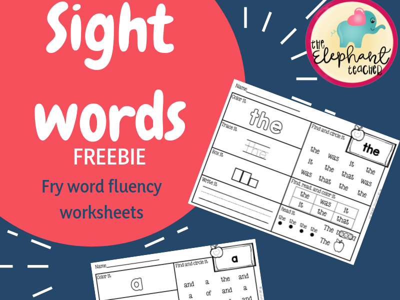 Word Work - Sight Word FREEBIE