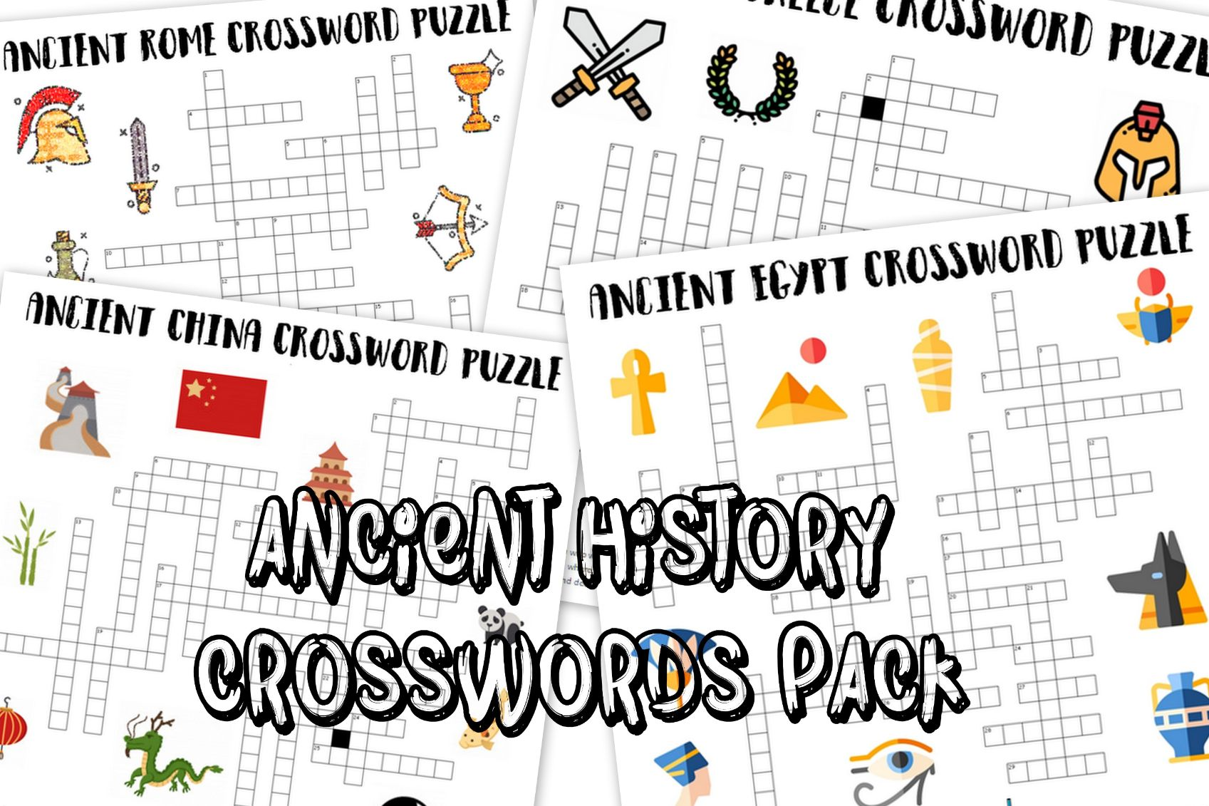 Ancient History A3 Crossword Puzzles Pack