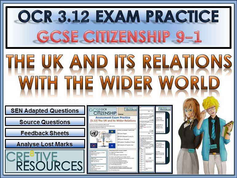 9-1 Citizenship OCR GCSE Exam Assessment:  The UK and the Wider World