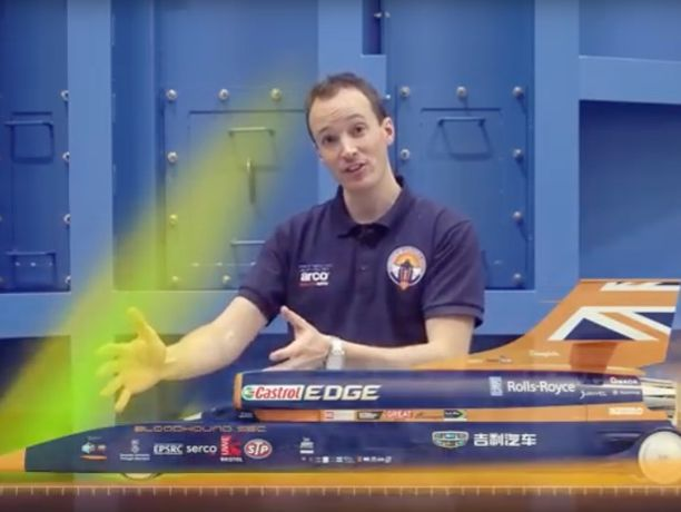 KS3 Waves: Bloodhound SSC Jet Car Supersonic Shockwaves and Aerodynamics Video- 4 mins