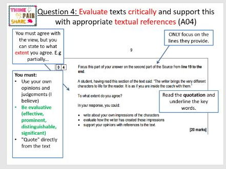 Response to targets (Language Paper 1: Question 4) Outstanding lesson