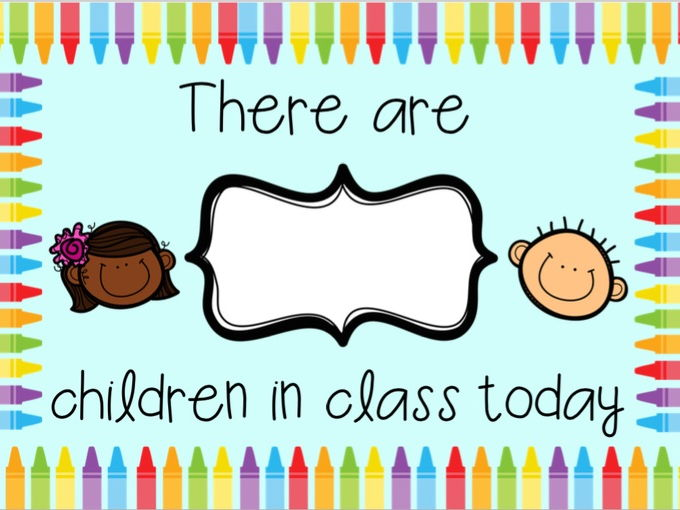 number of children in class display poster (attendance)