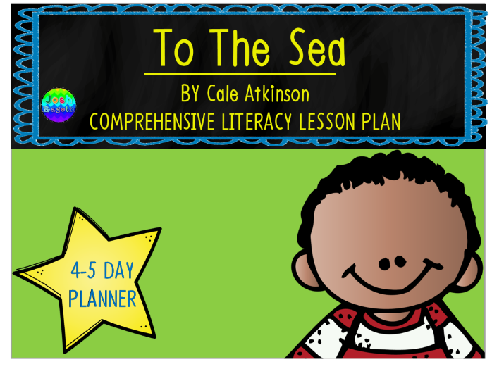 To The Sea by Cale Atkinson 4-5 Day Lesson Plan