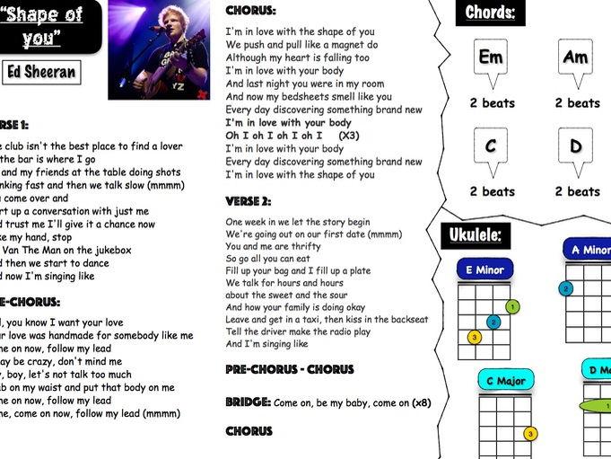 Pop music group lead sheets 4 (Ed Sheeran & Harry styles)