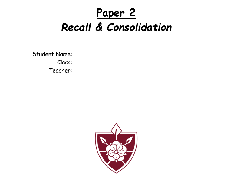 OCR GCSE PE Paper 2 recall/school closure booklet