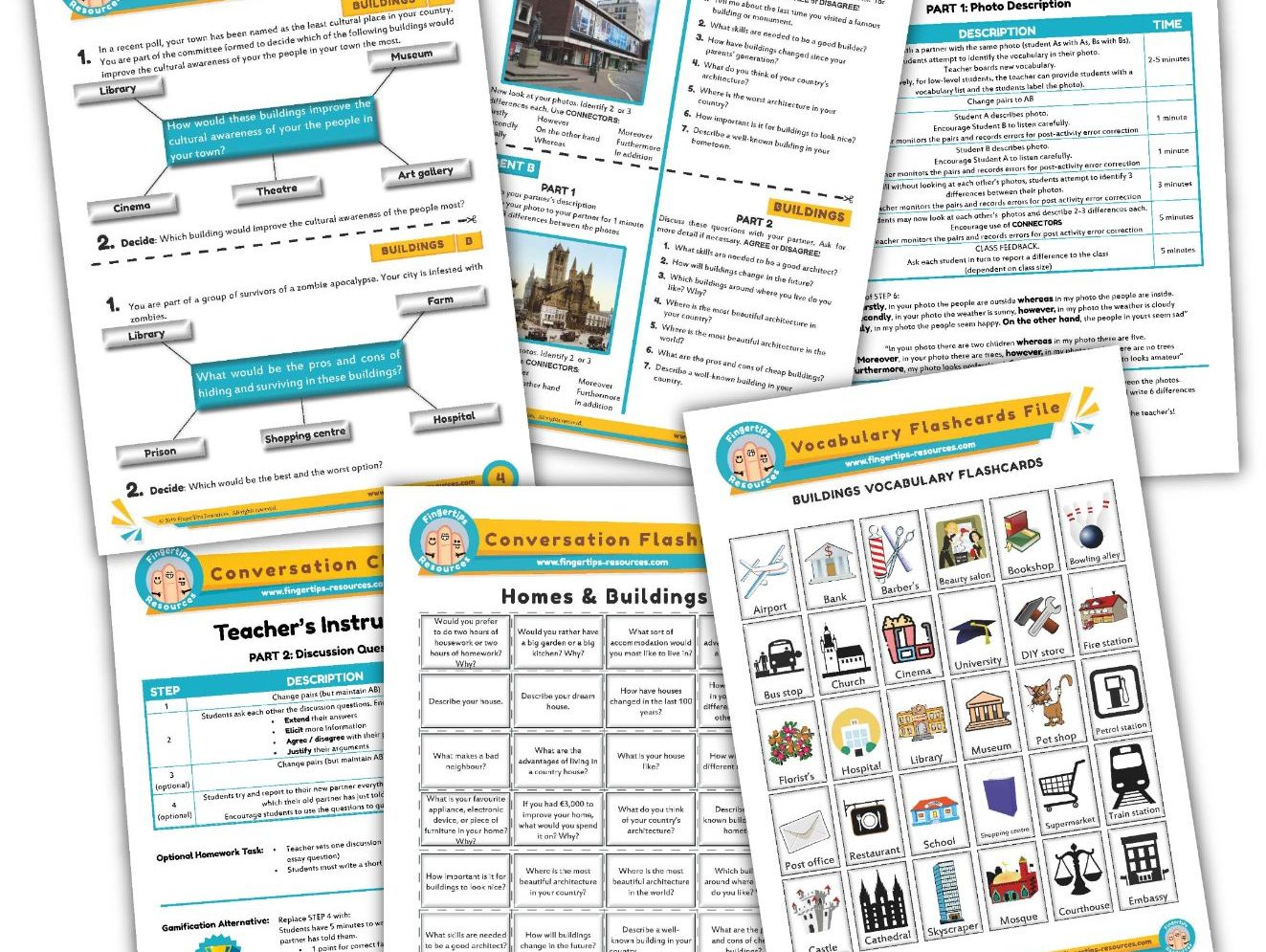 Buildings Unit - ESL Activity Bundle