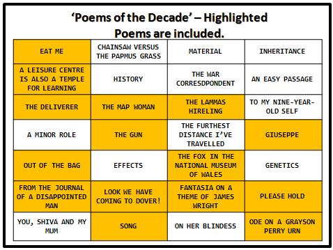 Poems of the Decade - Revision Guide - Includes 15 of the Poems
