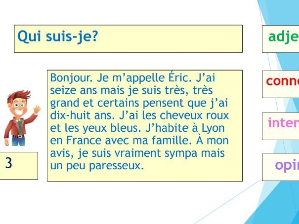 Thème 1 identity and culture Unit 1 - Me, my family and friends (French Foundation GCSE)