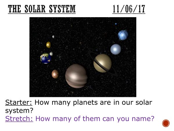 The solar system - complete lesson (KS3)