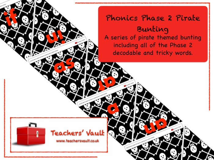 Phonics Phase 2 Pirate Bunting