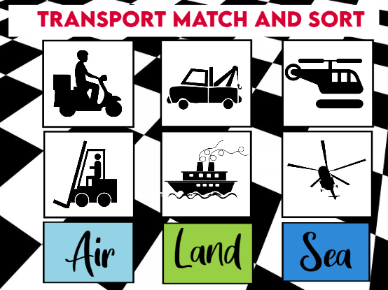 Transport Match and Sort Cards KS1