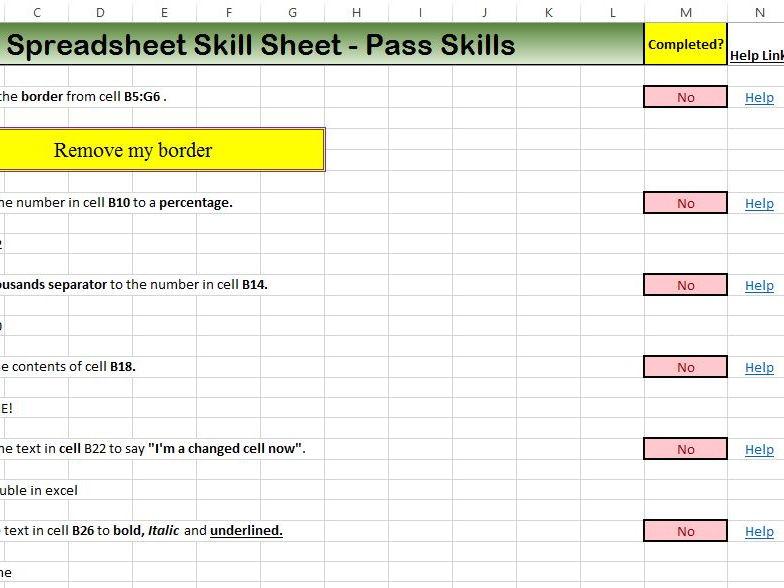 ECDL Excel Revision Lesson 2