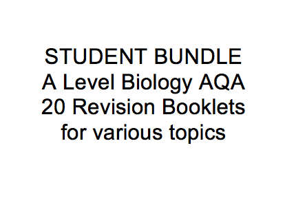 STUDENT revision summaries A Level Biology AQA bundle