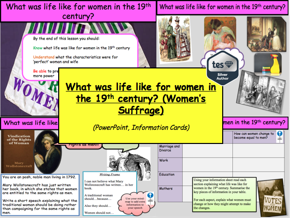 What was life like for women in the 19th century? (Women's Suffrage)