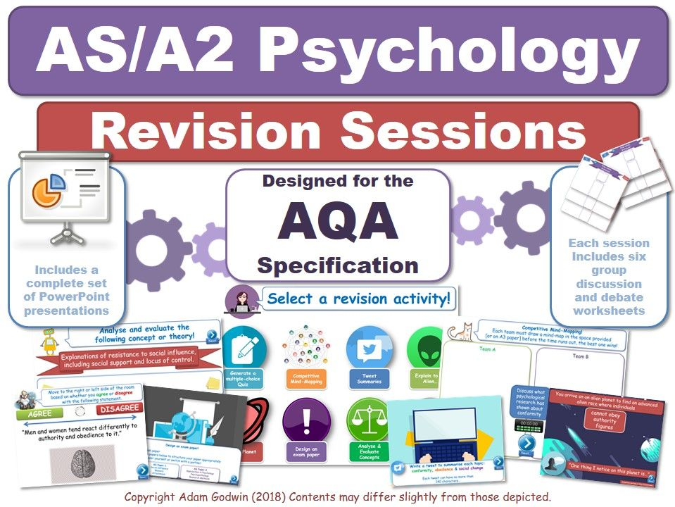 Complete Set of Revision Sessions (x20) - AQA Psychology (AS/A2)  - KS5 - Revise
