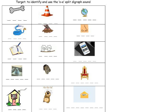 Split Digraph O E Powerpoint And Worksheet Teaching Resources