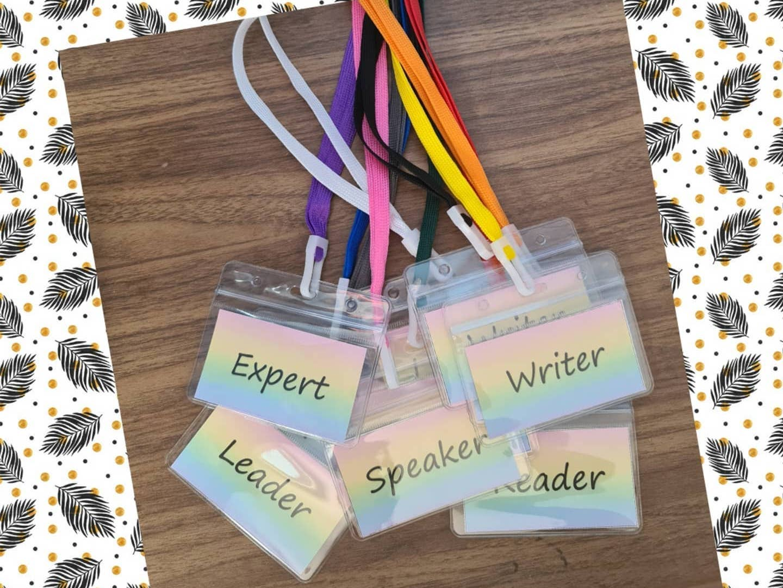 Editable group work lanyards