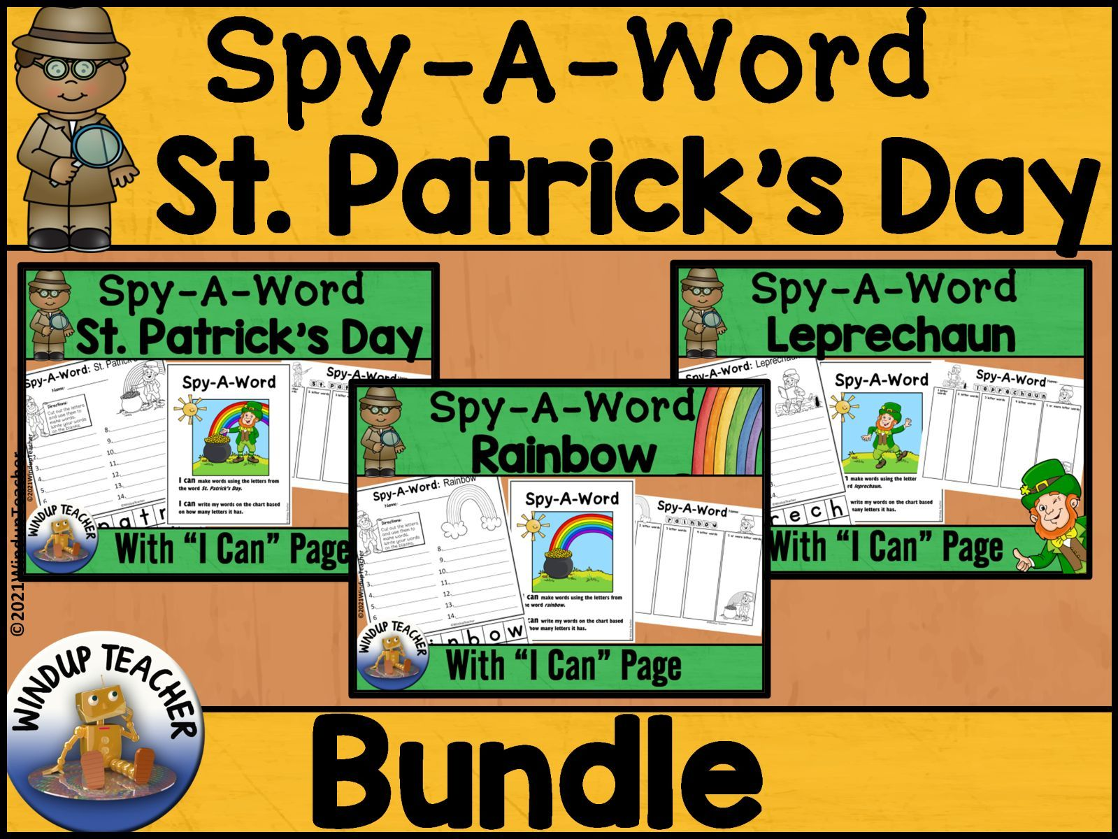 St. Patrick's Day Word Activity BUNDLE