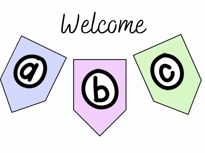 Pastel Welcome Banner