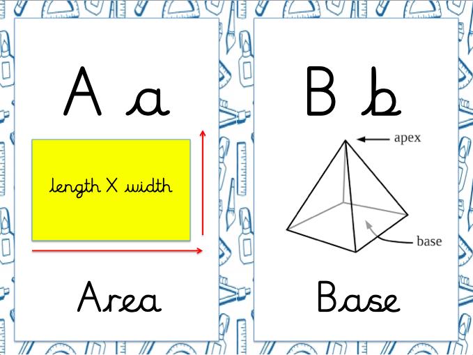 Mathematics Alphabet (KS2 - Editable)
