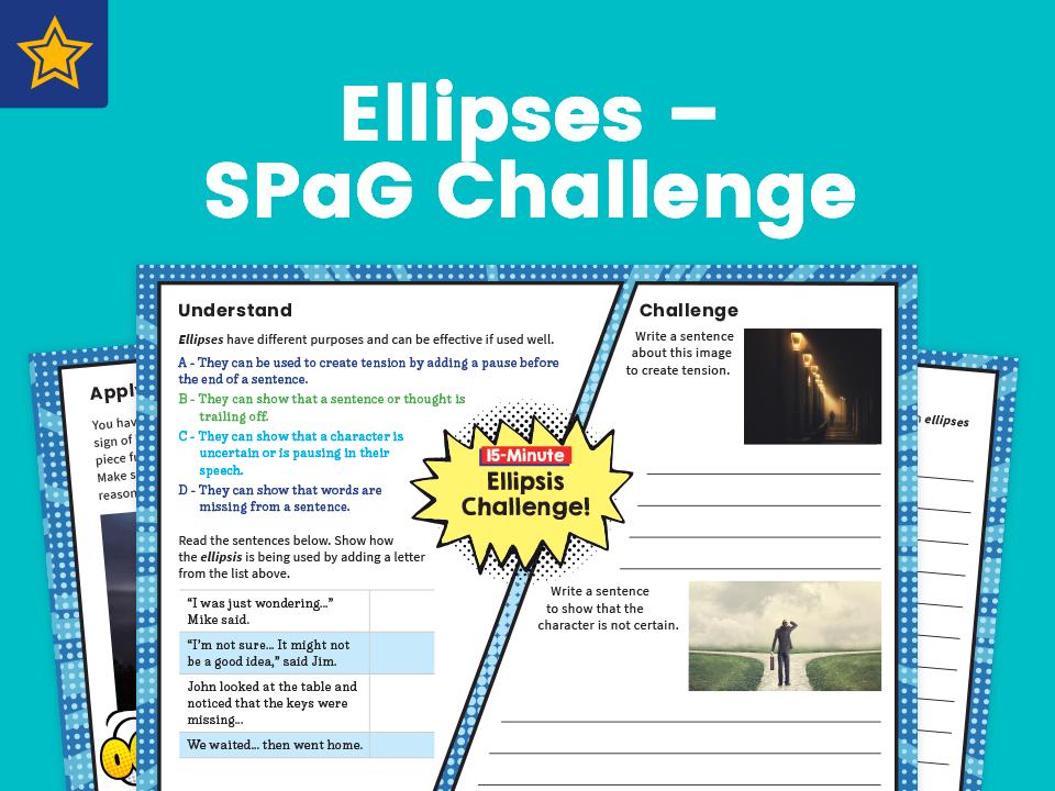 Ellipses – Y6 SPaG Challenge Mat