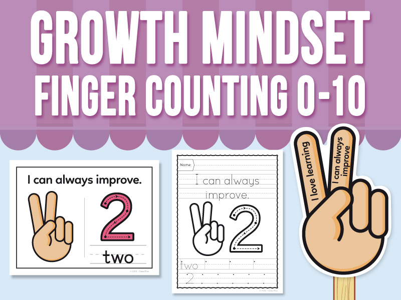 Growth Mindset Finger Counting 1 to 10