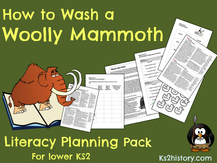 'How to Wash a Woolly Mammoth' Planning Pack