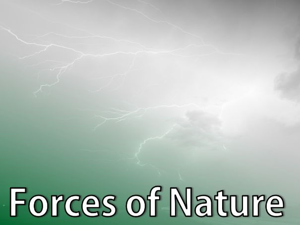 Forces of Nature Science Lesson. Presentation and worksheets.