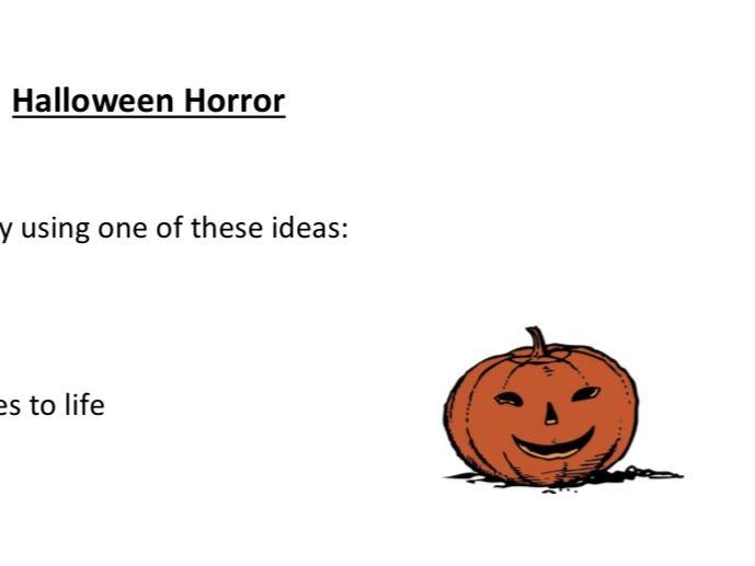 Halloween Horror Creative Writing Activity