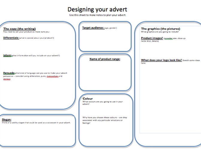 Designing an Advert