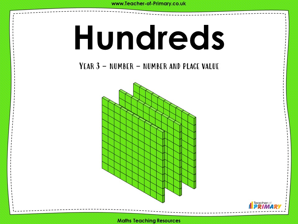 Hundreds - Year 3