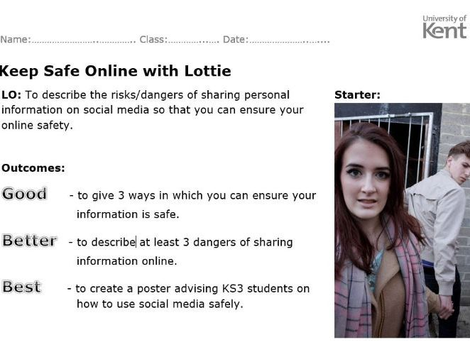 Online safety with 'Lottie' simulation screenshots