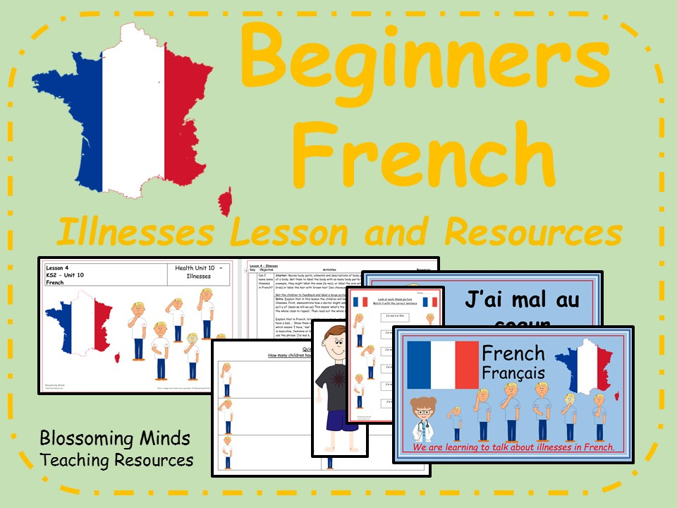 French Lesson and Resources - Illnesses - KS2